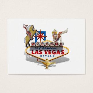 Sinal de boas-vindas de Las Vegas Cartão De Visitas