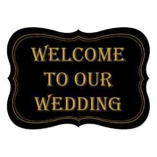 Sinal de boas-vindas do casamento de Gatsby dos Convite 12.7 X 17.78cm