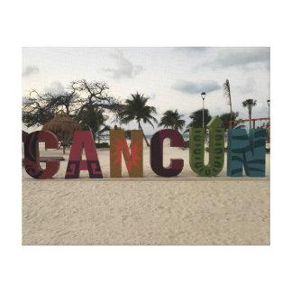 Sinal de Cancun - Playa Delfines, canvas de México