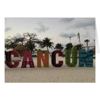 Sinal de Cancun - Playa Delfines, cartão de México