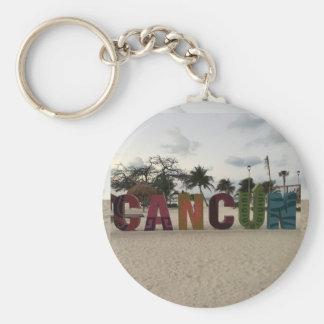 Sinal de Cancun - Playa Delfines, chaveiro de