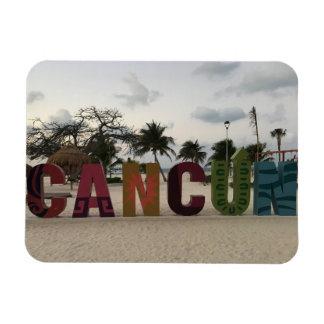 Sinal de Cancun - Playa Delfines, ímã da foto de