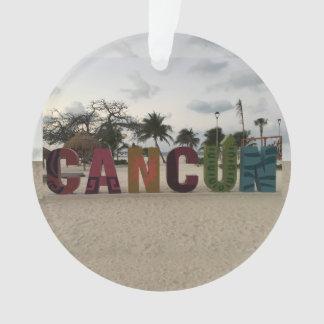 Sinal de Cancun - Playa Delfines, ornamento de