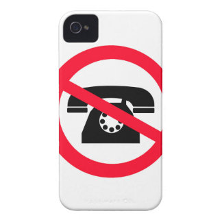 Sinal de chamada nenhuma forma velha da chamada capinha iPhone 4