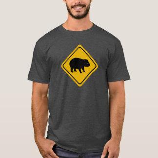 Sinal de estrada australiano - wombat - camiseta