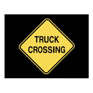 Sinal de estrada - cruzamento do caminhão