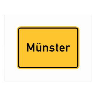 Sinal de estrada de Munster, Alemanha Cartão Postal