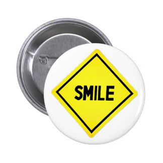 Sinal de estrada do sorriso bóton redondo 5.08cm