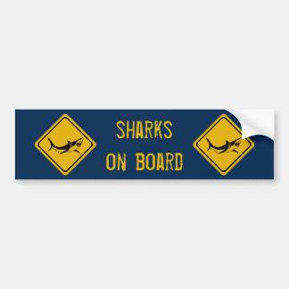 sinal de estrada do tubarão adesivo para carro