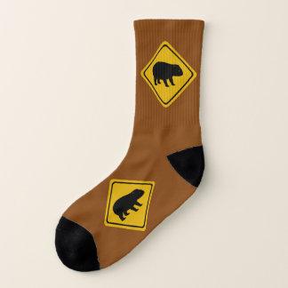 sinal de estrada do wombat - meias