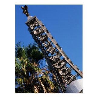 Sinal de Hollywood, Los Angeles, Califórnia Cartão Postal