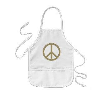 Sinal de paz avental infantil