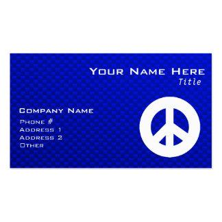 Sinal de paz azul cartão de visita