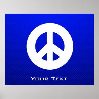 Sinal de paz azul impressão