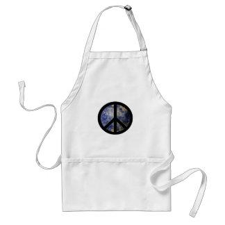 Sinal de paz Blog4Peace do avental do cozinheiro
