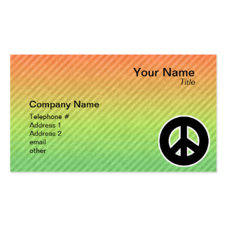 Sinal de paz cartão de visita
