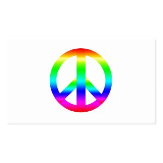 Sinal de paz cartões de visitas