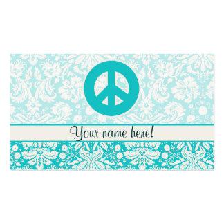 Sinal de paz da cerceta cartão de visita