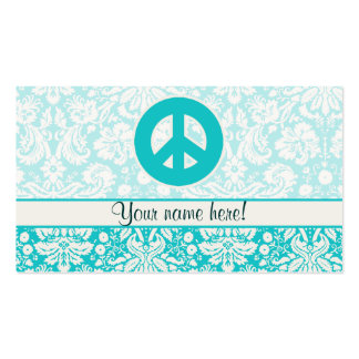 Sinal de paz da cerceta cartoes de visitas