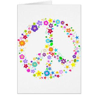 Sinal de paz das flores cartoes