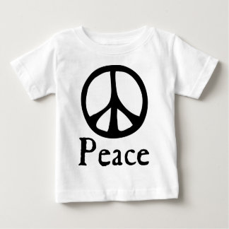 Sinal de paz de fluxo camiseta para bebê