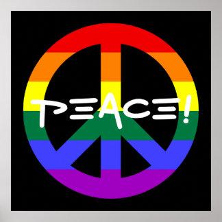 Sinal de paz do arco-íris posters