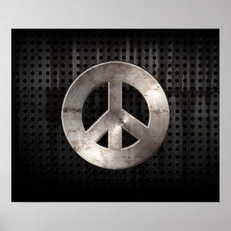Sinal de paz do Grunge Impressão