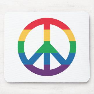 Sinal de paz Mousepad do arco-íris