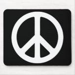 Sinal de paz preto e branco mousepads