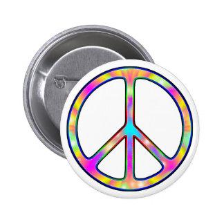 Sinal de paz psicadélico completo botons