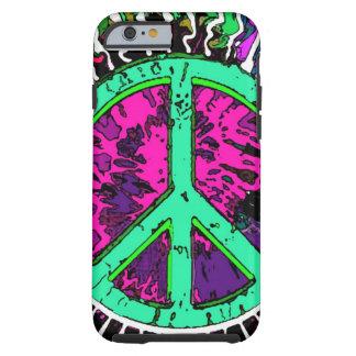 Sinal de paz Trippy selvagem do Hippie Capa Tough Para iPhone 6