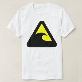 Sinal de perigo do tsunami t-shirts