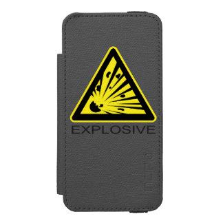Sinal de perigo explosivo