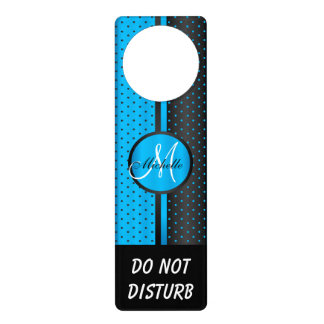 Sinal De Porta As bolinhas pretas & azuis | não perturbam o sinal