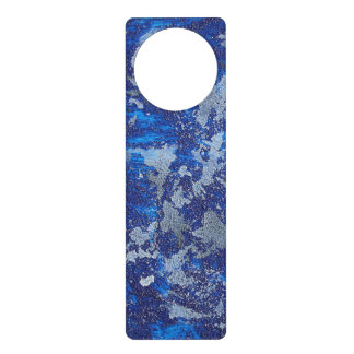 Sinal De Porta Cosmos azul #3