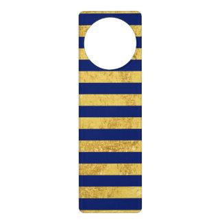Sinal De Porta Folha de ouro elegante e teste padrão da listra