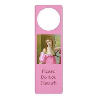 Sinal De Porta Gancho de porta cor-de-rosa #2 do St. Agatha (M