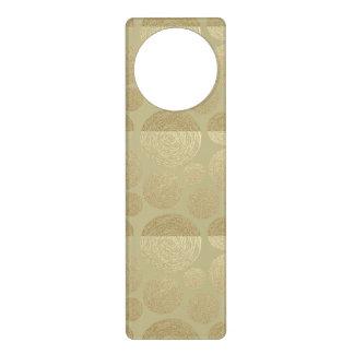 Sinal De Porta moderno, ouro, bolinhas, metálico, elegante,