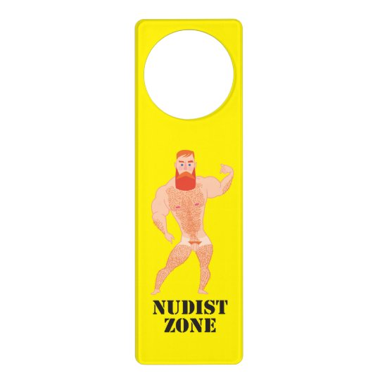 Sinal De Porta Nudist Zone