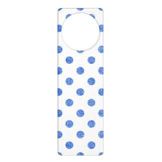 Sinal De Porta Teste padrão de bolinhas azul elegante do brilho
