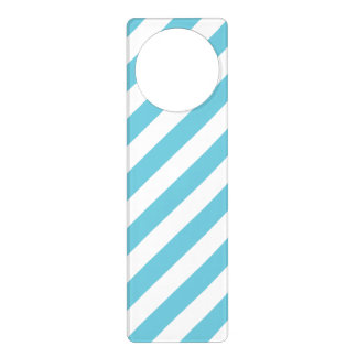 Sinal De Porta Teste padrão diagonal azul e branco das listras