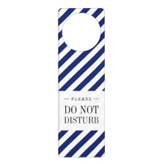 Sinal De Porta Teste padrão diagonal do azul marinho e o branco