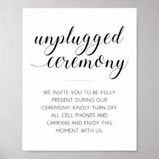 Sinal desconectado da cerimónia de casamento - pôster
