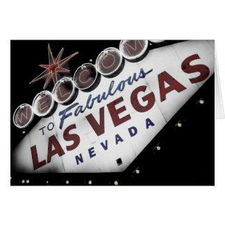 Sinal desvanecido de Vegas - cartões