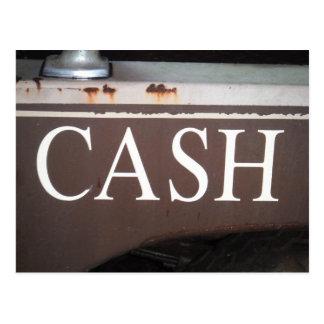 Sinal do carro vintage do caminhão de reboque do cartão postal