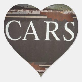 Sinal do carro vintage do caminhão de reboque dos adesivos em forma de corações