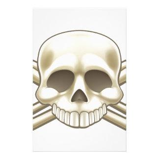 Sinal do crânio e do pirata dos Crossbones Papelaria