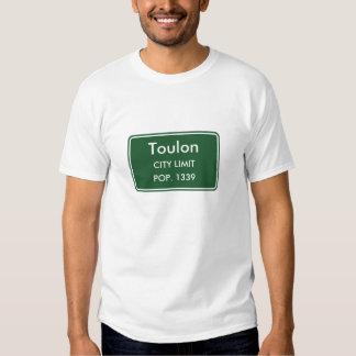 Sinal do limite de cidade de Toulon Illinois T-shirts