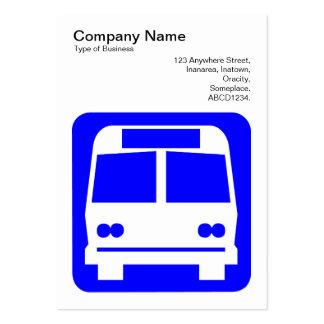 Sinal do ônibus - azul no branco cartoes de visita
