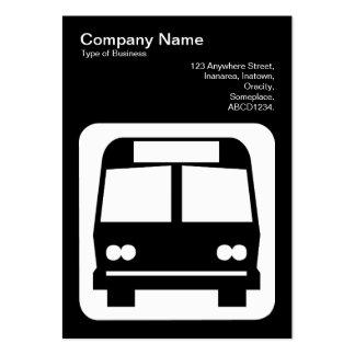 Sinal do ônibus - branco no preto modelo cartões de visita